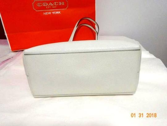 Coach Shoulder 36875 Satchel 36876 Tote in white Image 7
