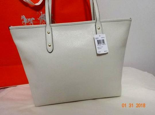 Coach Shoulder 36875 Satchel 36876 Tote in white Image 9