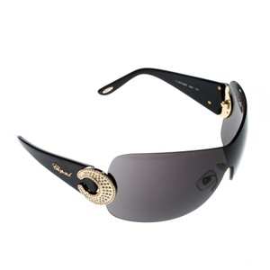 Chopard SCH939S Crystal Embellished Shield Sunglasses