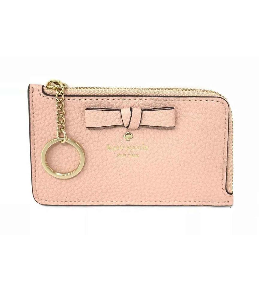 b7470f886 Kate Spade Kate Spade Pershing Street Poppy Warm Vellum Key Fob Pouch Wallet  Image 0 ...
