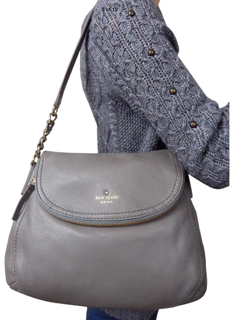 Item - Cobble Hill Penny Gray Leather Hobo Bag