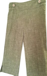XOXO Pants Modern Fit Flair Tweed Capris Green