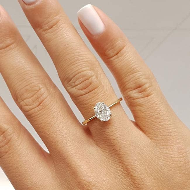Item - Yellow Gold 0.9 Ct Oval F - Vs2 Solitaire Diamond 14k Engagement Ring