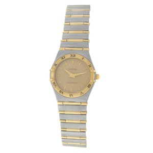 Omega Authentic Lady's Omega Constellation Full Bar 18K Yellow Gold 24MM