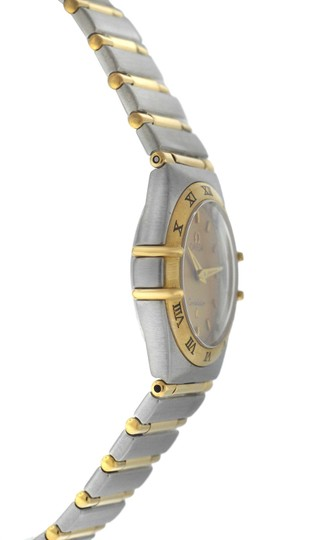 Omega Authentic Lady's Omega Constellation Full Bar 18K Yellow Gold 24MM Image 2