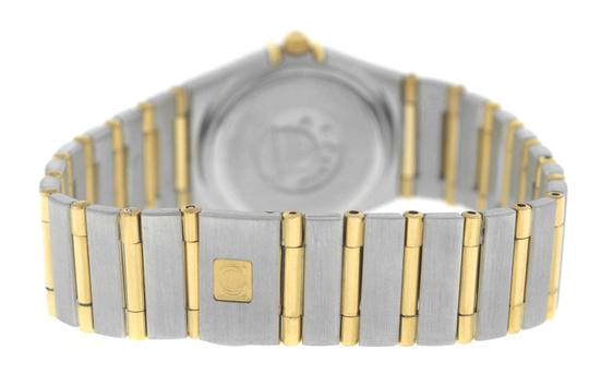 Omega Authentic Lady's Omega Constellation Full Bar 18K Yellow Gold 24MM Image 5