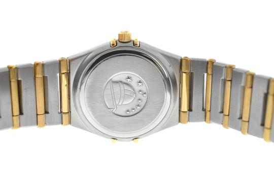 Omega Authentic Lady's Omega Constellation Full Bar 18K Yellow Gold 24MM Image 7