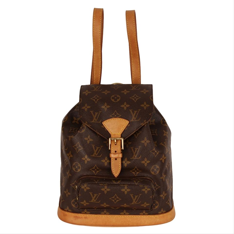 09aadd2f7aef Louis Vuitton Montsouris Mm Monogram Leather Shoulder Bags Vintage Backpack  ...