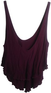 Free People Plunge Tiered Casual Scoop Back Rayon Top Pink