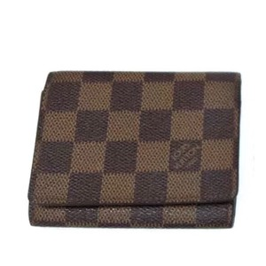 Louis Vuitton Louis Vuitton Monogram Damier Ébène Checker Card Wallet