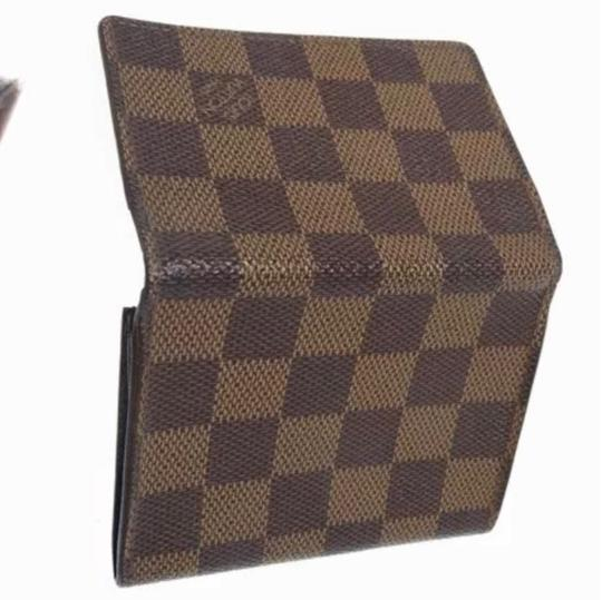 Louis Vuitton Louis Vuitton Monogram Damier bène Checker Card Wallet Image 1