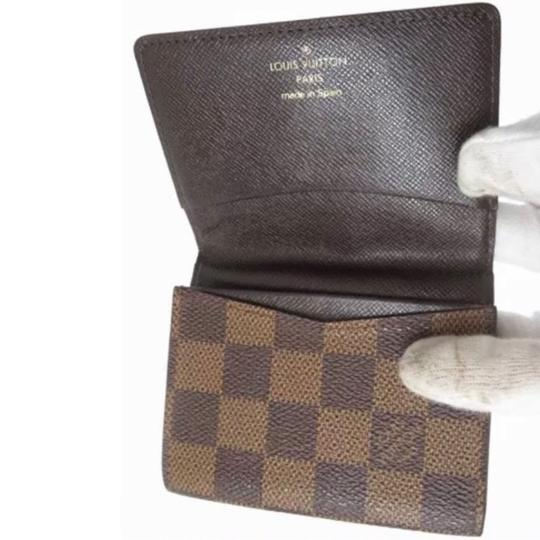 Louis Vuitton Louis Vuitton Monogram Damier bène Checker Card Wallet Image 2