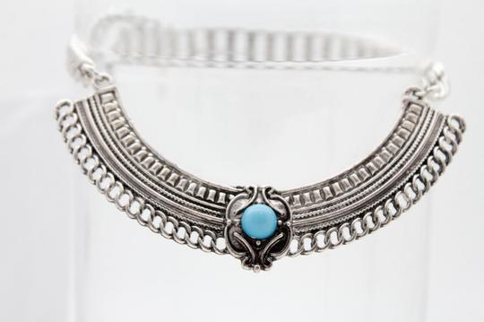 Alwaystyle4you Women Silver Boot Chain Bracelet Shoe Ethnic Turquoise Blue Beads Image 4