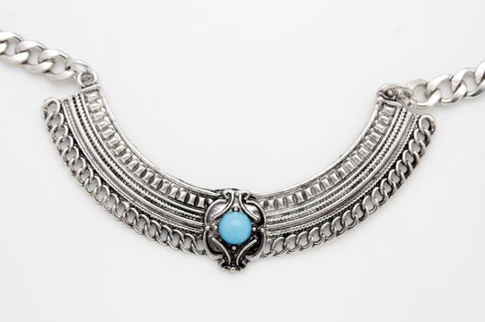 Alwaystyle4you Women Silver Boot Chain Bracelet Shoe Ethnic Turquoise Blue Beads Image 8