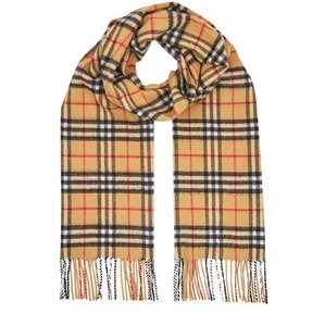 Burberry NWT Burberry vintage check icon cashmere scarf