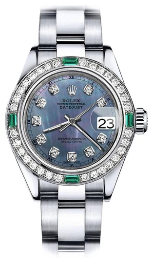Preload https://img-static.tradesy.com/item/24177862/rolex-stainless-steel-tahitian-pearl-36mm-datejust-diamond-and-emerald-bezel-watch-0-1-540-540.jpg