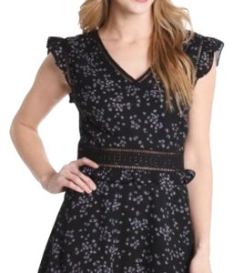 cupcakes and cashmere short dress Black Floral on Tradesy