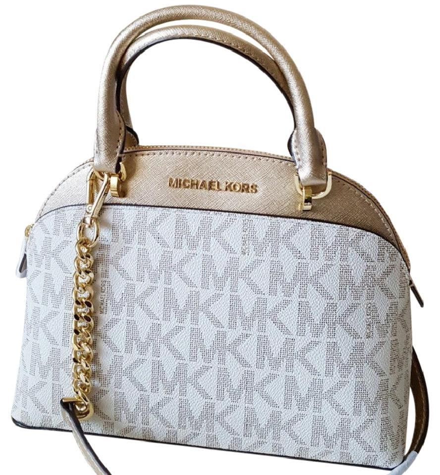 8ab3475566cd Michael Kors Emmy Small Dome Purse Multicolor Leather Satchel - Tradesy
