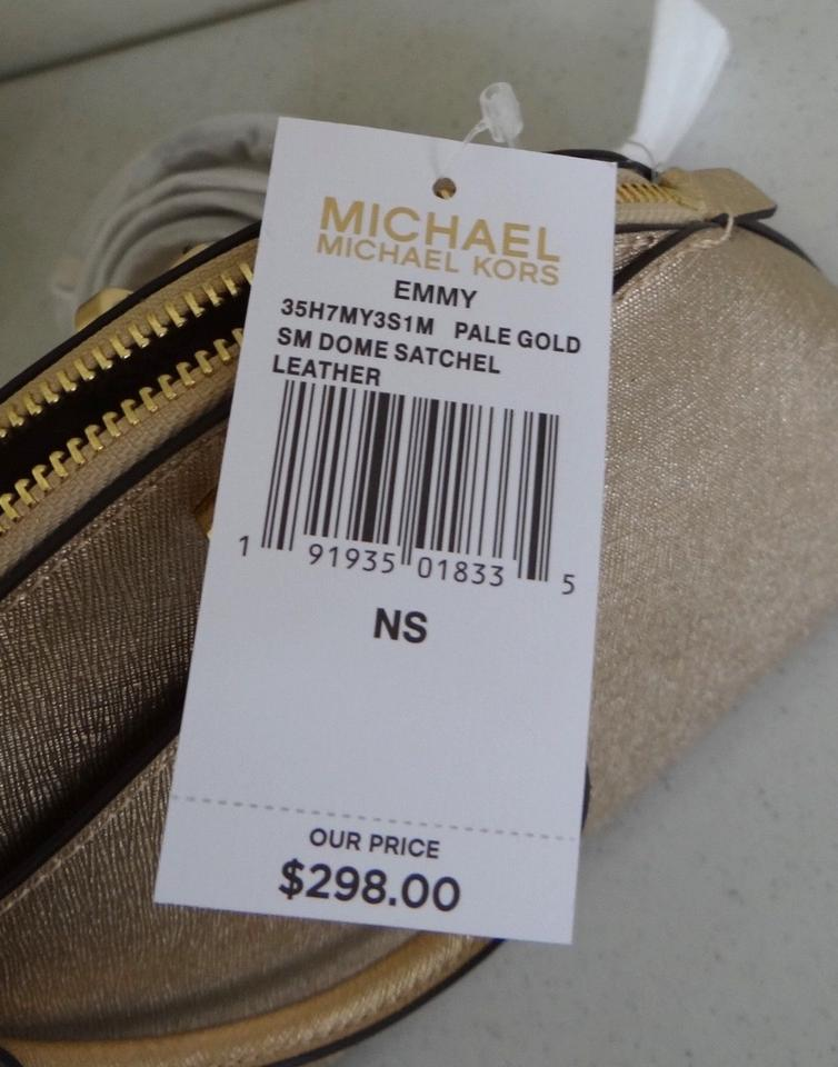 0523df680c Michael Kors Emmy Small Dome Cindy Gold Leather Satchel - Tradesy