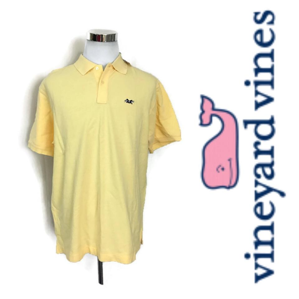 5f59f841aa Vineyard Vines Yellow Men's Polo Golf Cotton Shirt Image 0 ...