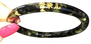Chanel Chanel in Chinese!! Black Marbled Bangle.