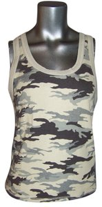 Juicy Couture Racer-back Military Fatigue Sleeveless Camouflage Top Camo