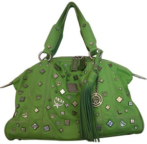 MCM Satchel in Green