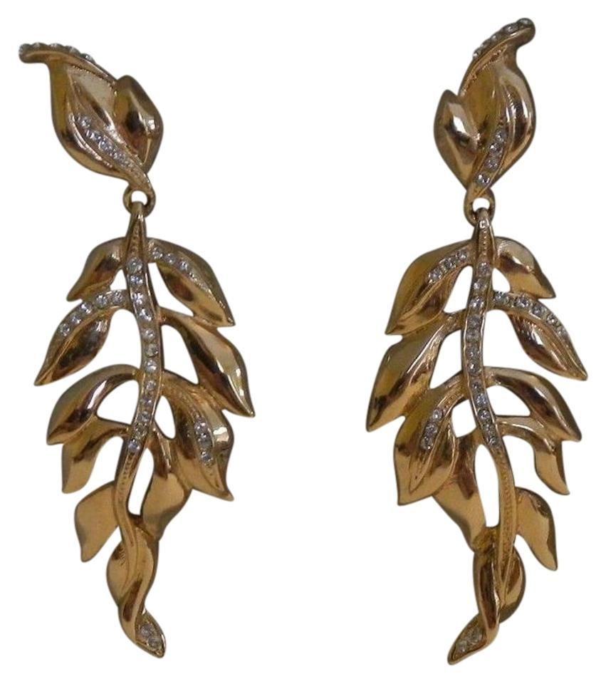 Judith Leiber Leaf Drop Earrings