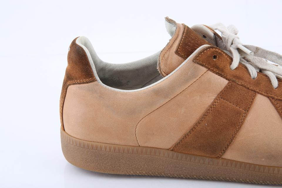 aabe648b46b Maison Margiela Neutral Nude Calfskin Suede Replica Trainers Shoes 19% off  retail