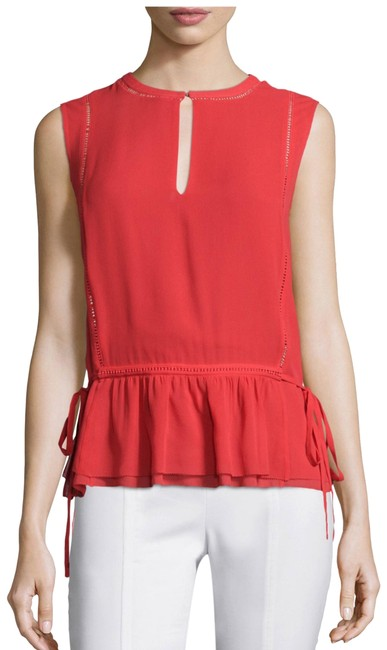 Preload https://img-static.tradesy.com/item/24178717/tory-burch-red-tie-waist-sleeveless-shell-blouse-size-8-m-0-1-650-650.jpg