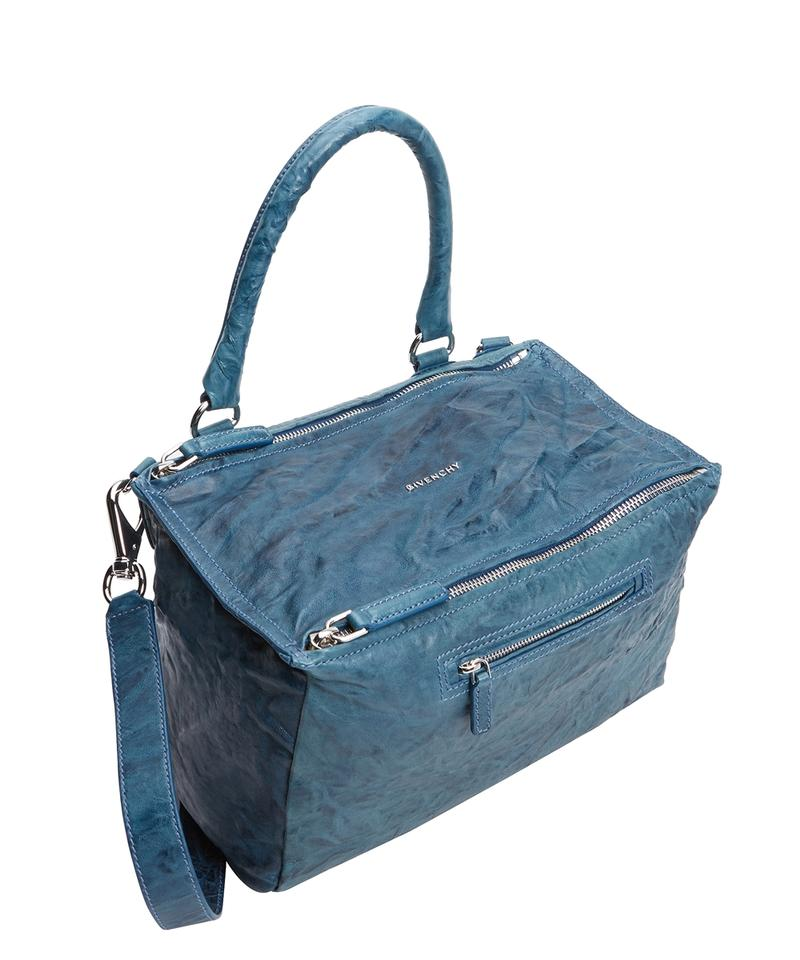 a24d2ad8b643 Givenchy Pandora Pepe Medium Satchel Mineral Blue Washed Lambskin ...