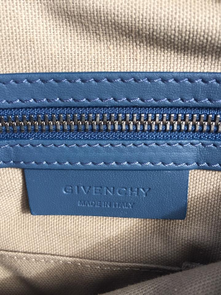 23e5af9cd04e Givenchy Pandora Pepe Medium Satchel Mineral Blue Washed Lambskin Shoulder  Bag - Tradesy