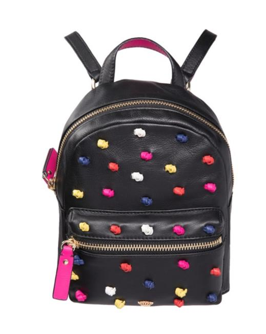 Item - Knotted Mini Black Leather Backpack