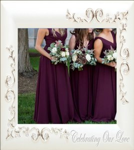 Amsale Ruby Chiffon G891f Formal Bridesmaid/Mob Dress Size 12 (L)
