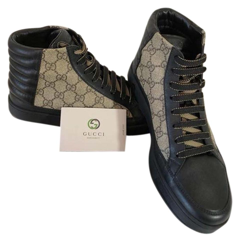 32fa9800b28 Gucci Black New Gg Supreme High-top Sneaker Gg Print Leather ...