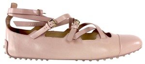Tod's Leather Mary Jane Blush Nude Flats