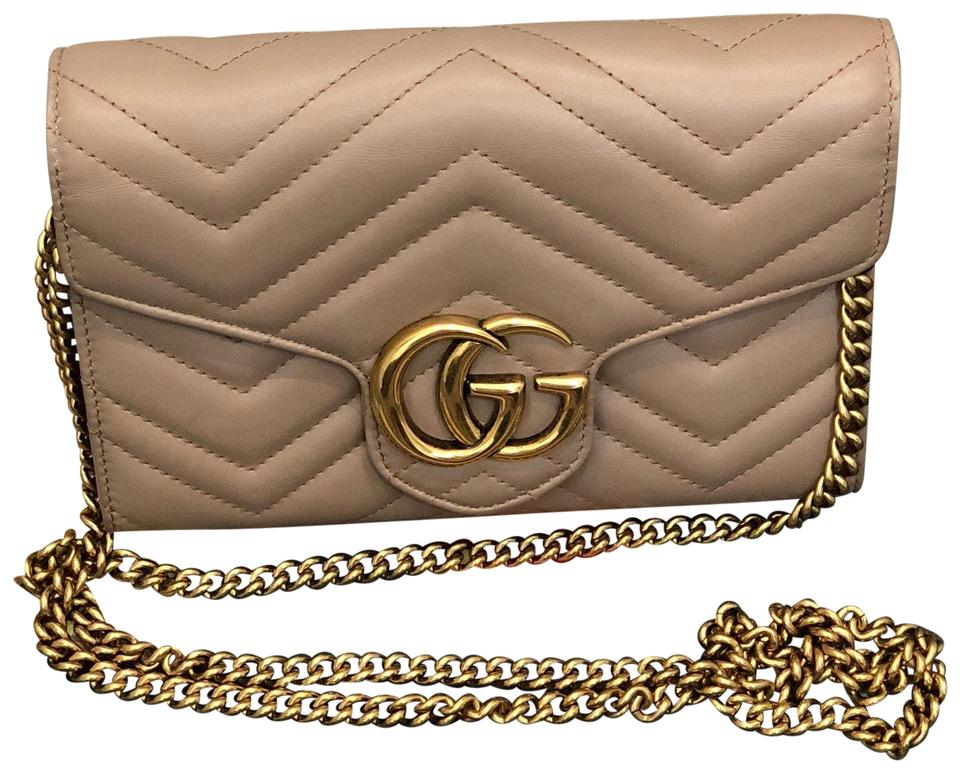 4ed62a1b2 Gucci Marmont Woc Nude Leather Cross Body Bag - Tradesy