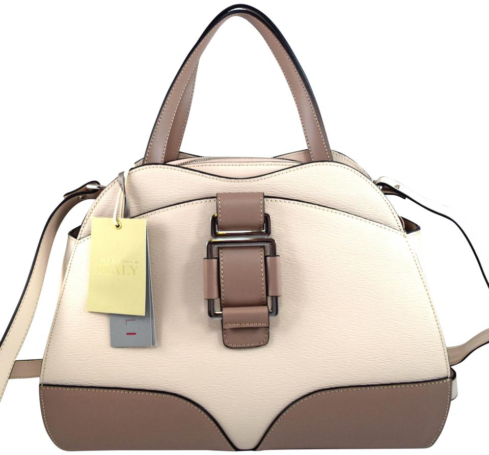 756d319a3 NICOLI Carnaby Nude Grey Leather Satchel - Tradesy