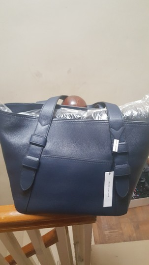 Marc Jacobs Lamb Leather Tote in French Navy