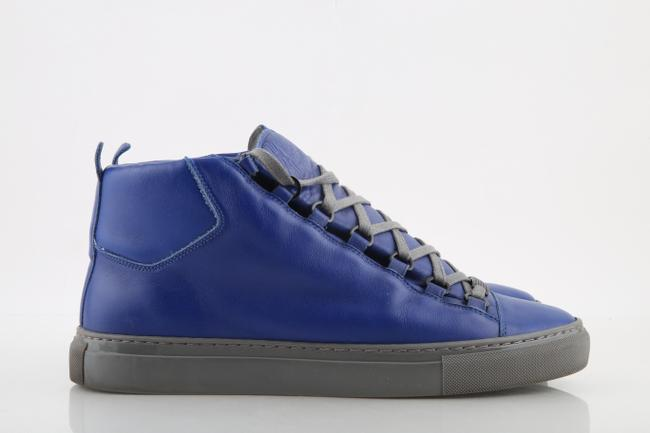 Item - Blue Electric Arena Smooth Leather High-top Sneakers Shoes