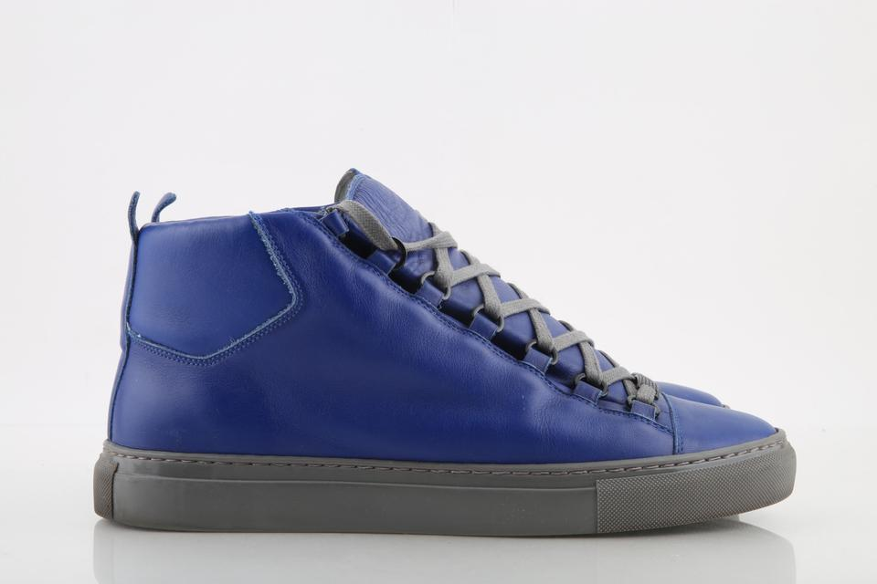 0e8751c7c8e9 Balenciaga Blue Electric Arena Smooth Leather High-top Sneakers Shoes Image  0 ...