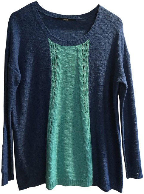 Preload https://img-static.tradesy.com/item/24179698/kensie-turquoise-and-royal-blue-sweater-0-1-650-650.jpg