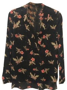 Lumiere Top Black with Flowers