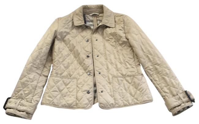 Item - Beige Classic Quilted Jacket Size 6 (S)