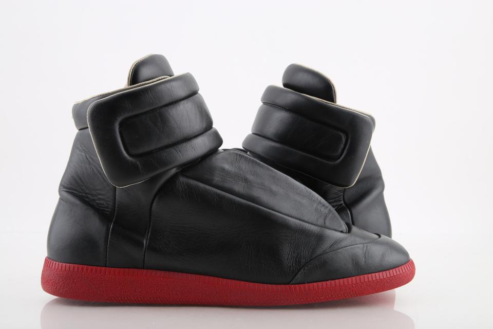 1865e959afd91 Maison Margiela Black Body Red Sole 22 Future Leather Hi-top Sneakers Shoes  Image ...