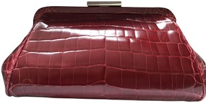 Tiffany & Co. Crocodile Crocodile Red Clutch