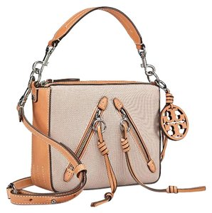 5599b8c79d1 Tory Burch Sale-authentic Moto Canvas Leather Natural Leather ...