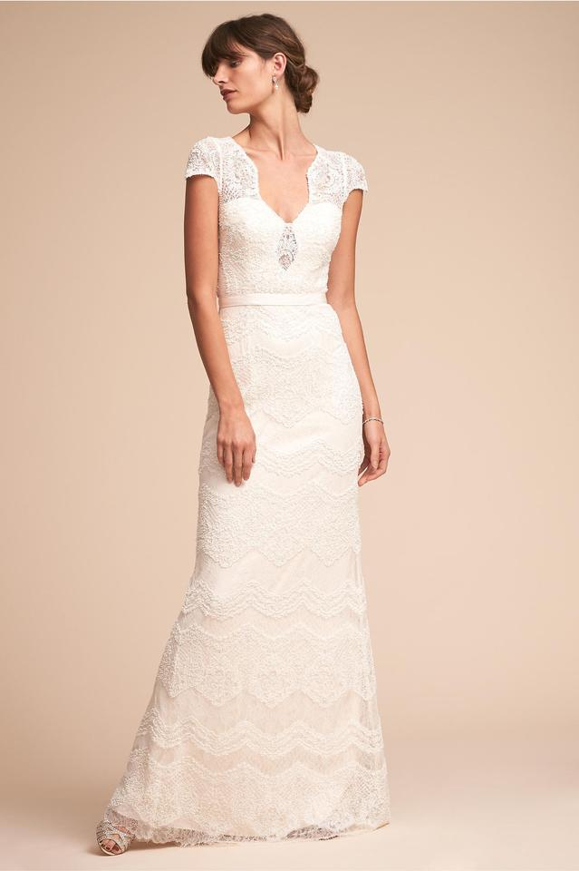 Catherine Deane For Bhldn Ivory Lace With Polyester Lining Gown Modern Wedding Dress Size 2