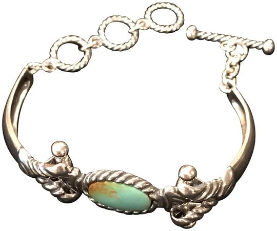 Preload https://img-static.tradesy.com/item/24180131/turquoise-sterling-silver-hinged-bangle-style-bracelet-0-4-540-540.jpg