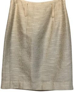 Development by Erica Davies Pencil Skirt Creamy Gold